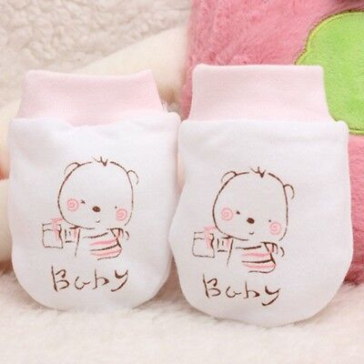 Newborn Anti Scratching Baby Anti-grasping Gloves Face Protection Cotton