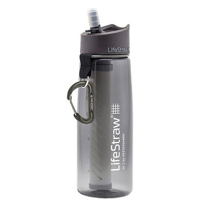 Lifestraw Go Water Bottle With 2-Stage Filtration Grey Ideal For Travel