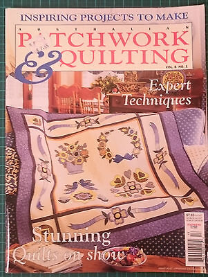 Australian Patchwork and Quilting magazine Vol. 8 No. 1, 11 unique projects