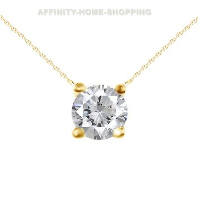 Tiny 0.10 ct Diamond Solitaire Pendant Necklace in 14 kt Yellow Gold