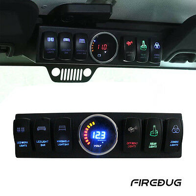 Firebug Jeep Wrangler Switch Panel, Jeep 6 Rocker Switch Cotrol Bracket JK JKU