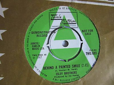 45Rpm.  Isley Bros.  Behind A Painted Smile* Uk Demo 7""