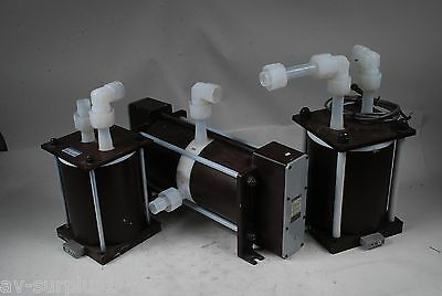 Lot of 3 Iwaki Pulse Dampener PD-40W, Bellows Pump FW-40T2, Unknown AS IS