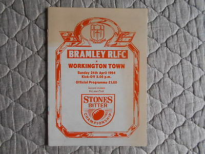 1993/94 Bramley V Workington Town Rugby League Second Division Match Programme