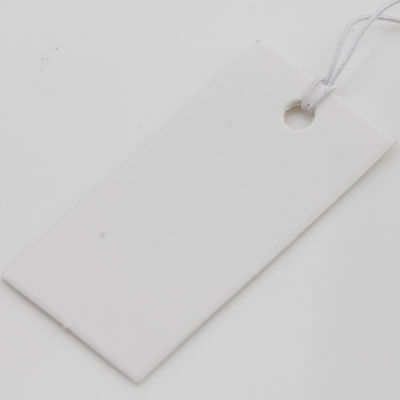 100X White Blank Paper Label Clothes Jewelry Tags With Elastic String Card Hang