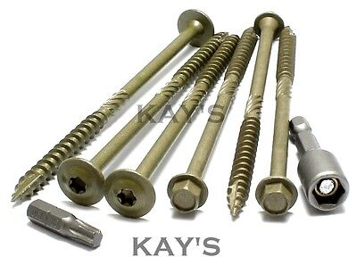 Hexagon Or Wafer Head Landscape Screws Sleeper Decking Fixing.timberfix Type