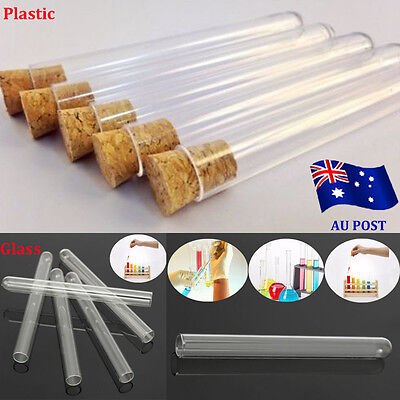 1-50x Test Tubes With Cork Stopper 20ML Volume Party Wedding Favour Candy Jar BO