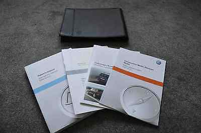 Genuine VW Volkswagen Golf Owners Hand Book Case Folder Gti GTD + Radio Nav