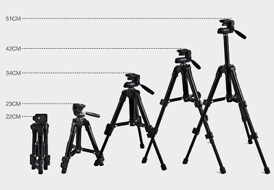 Portable Aluminum Camera Tripod Stand For Canon Nikon Camera Camcorder Monopods