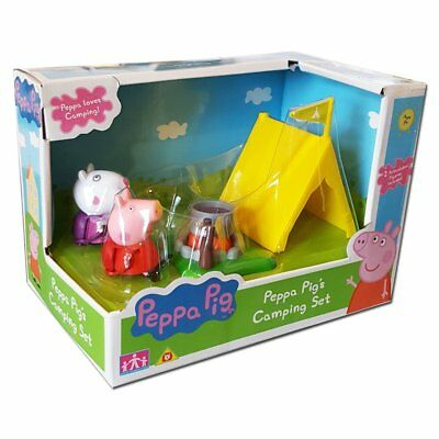 Peppa Pig Camping Set With 2 Figures (Peppa + Suzy) + tent campfire + more
