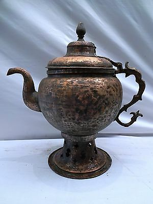 Rare Indian Antique Mughal Copper & Brass Samovar/tea Pot Genuine Collectibles
