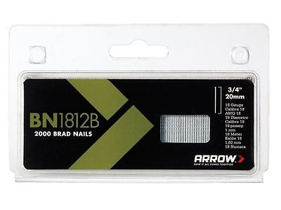 Arrow - BN1812B Head Brad/ Nails 20mm Brown Pack 2000 - ABN1812B
