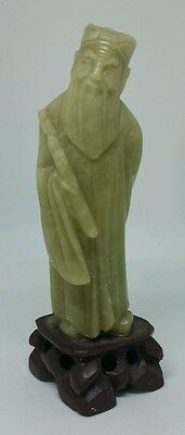 Vintage Chinese Carved Soapstone Scholar