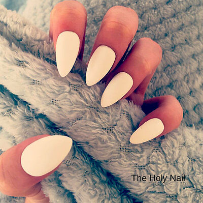 FALSE NAILS - Matte White - Stick On - The Holy Nail