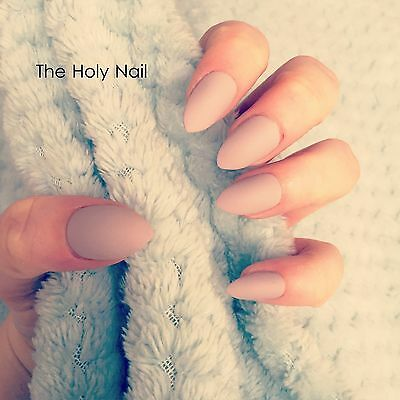 FALSE NAILS - Matte Almond - Stick On - The Holy Nail