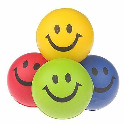 Smiley Stress Ball Squeeze Adhd Relaxing Toy