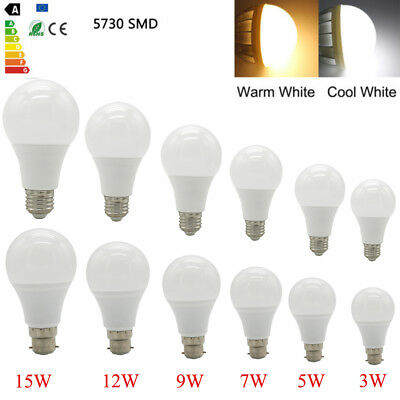 E27 B22 LED Light Globe Bulbs 3W/5W/7W/9W/12W/15/18W/20W 5730SMD AC220-240V