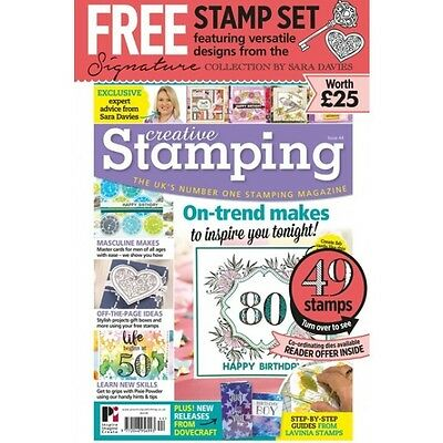 Creative Stamping Issue 44 + 49 Free Stamps By Sara Davies Timeless Moments