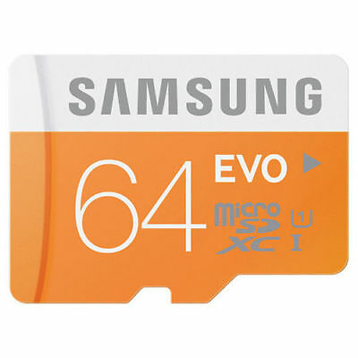 Samsung EVO 64GB Micro SD SDXC Memory Card Class 10 48MB/s UHS-I MB-MP64D NEW