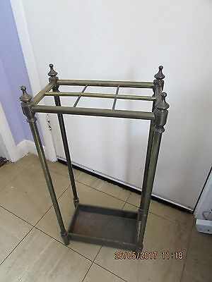brass and iron six section umbrella stand