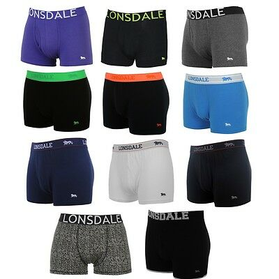 Lonsdale Mens Boxer Shorts Trunks Underwear S M L XL XXL