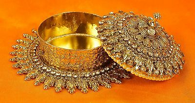 Ethnic Sindoor Box Antique Beautiful Old Metal Brass Handmade Vintage Jewelry