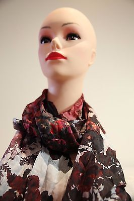 SPORTSCRAFT Phoenix silk long scarf  shades of red-grey in colour new with tag
