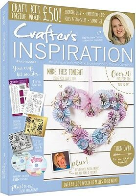 Crafters Inspiration Magazine Issue 14 Summer 2017 +  Free Craft Kit Worth £50