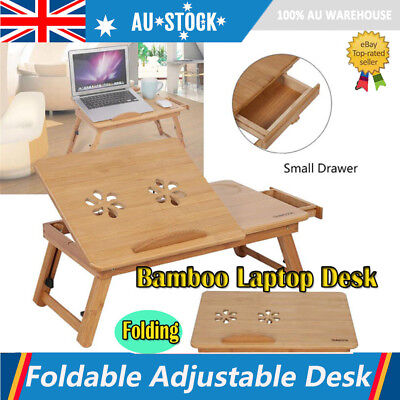 NEW Flexible Bamboo Rack Dormitory Bed Lap Table Two Flowers Book Reading Plate