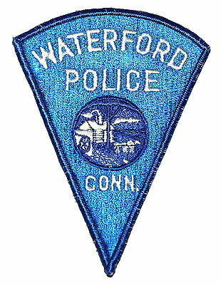 WATERFORD CONNECTICUT CT Police Sheriff Patch PADDLE WHEEL GRIST MILL ~