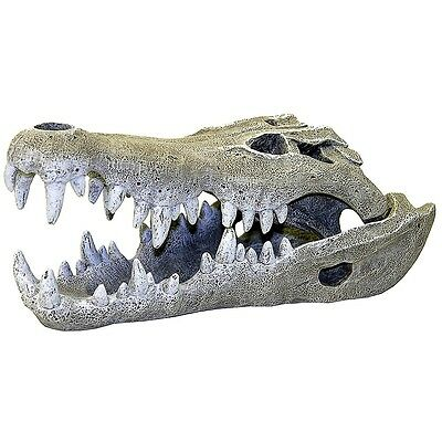 Large Nile Crocodile Skull Aquarium Fish Cave Decoration Vivarium Ornament