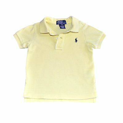 Ralph Lauren Baby Boys Polo Solid Yellow Size 9M  Short Sleeve Camisa