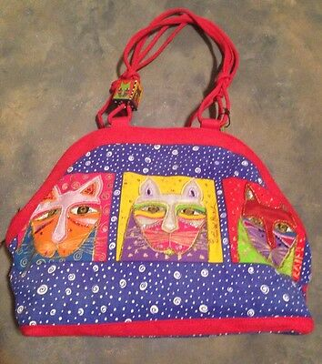 Laurel Burch Cat Lady Tote Women's Carry On Overnight Diaper Large Bag Purse