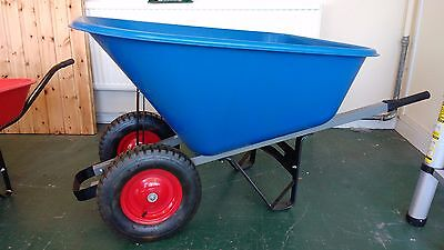 Twin Wheeled Plastic 140L Wheelbarrow