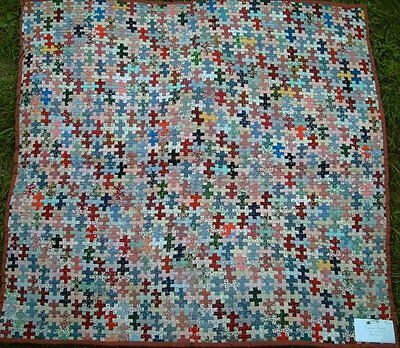 Amazing Tiny Piece Wall Quilt - Jigsaw Puzzle Support DWB/MSF
