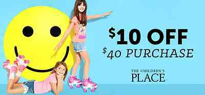 *TWO*codes $10 OFF your $40 purchase and more at Children's Place
