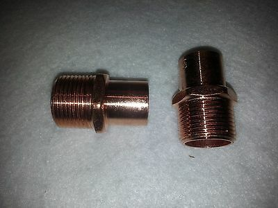 "3/4"" Copper STREET Male Adapter MA Sweat Solder Pressure Fitting New. Lot of 2"