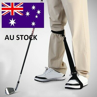 Golf Swing Practice Training Aids Leg Brace Band Strap Posture Corrector Trainer