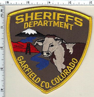 Garfield County Sheriff's Department (Colorado) Shoulder Patch - new from 1992