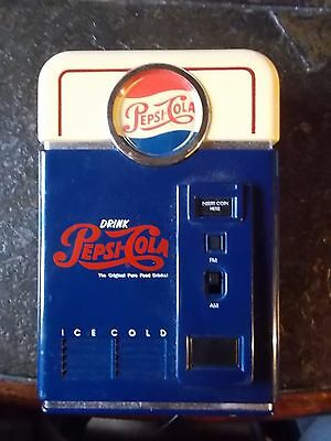 Pepsi Cola Vending Machine Novelty AM / FM Radio VINTAGE- Works collectible