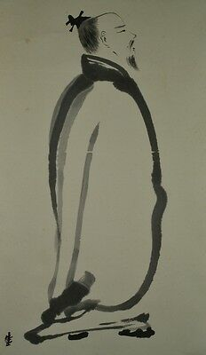 Chinese Painting Hanging Scroll Person Asian art ink Picture China Antique z07
