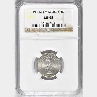 1900 MO M Mexico 20 Centavos, NGC MS 65, 1 Finer @ NGC