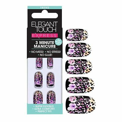 Elegant Touch Express False Nails - Trend Floral Leopard (24 Nails)