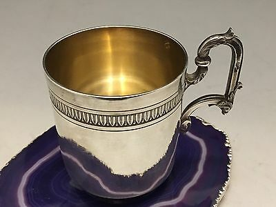 STUNNING French Sterling Silver & Gold Wash  Tea/Coffee Cup c1885 Boulenger-L669