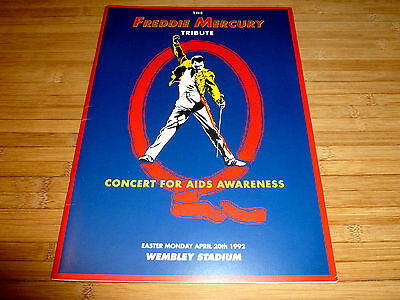 FREDDIE MERCURY Tribute Concert Program Tourbook 1992 NEAR MINT Queen