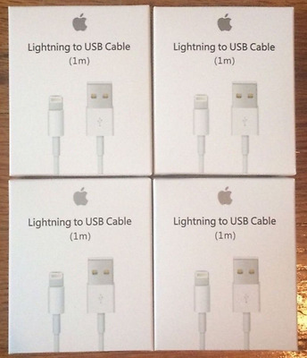 4-PACK OEM Certified Original Lightning USB Charger Cable For Apple iPhone 7 6 5