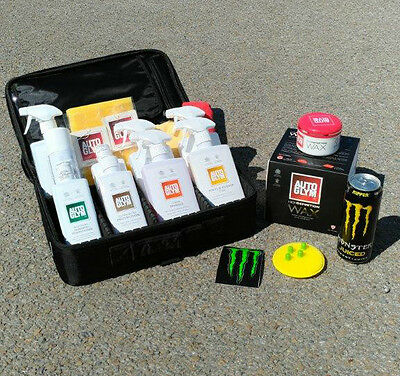 MONSTER ENERGY Limited Edition AUTOGLYM Clean Bag Kit w/ Protective Case+ HD WAX