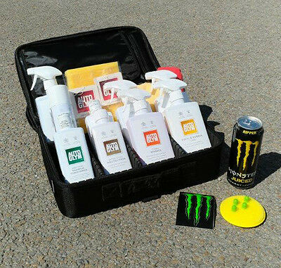 MONSTER ENERGY Limited Edition AUTOGLYM Clean Valet Bag Kit w/ Protective Case