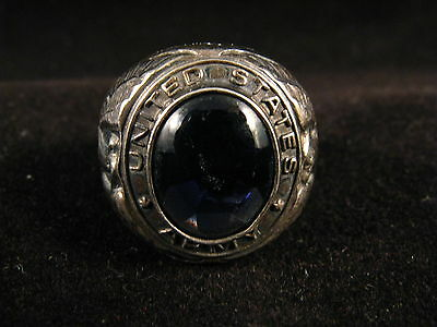 Wwii Us Army 925 Sterrling Silver Ring