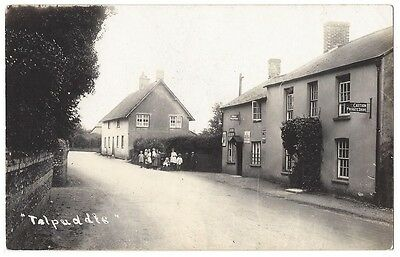 TOLPUDDLE Showing Hotel & Post Office, RP Postcard, Unused